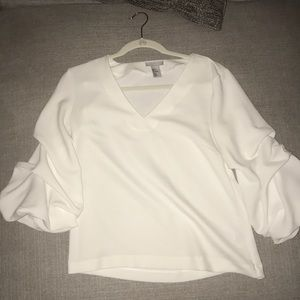 H & M cinched sleeve top